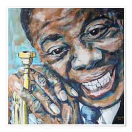 Premium-Poster  What a Wonderful World, Louis Armstrong - Christel Roelandt