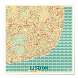 Hubert Roguski - Lissabon, Portugal Karte Retro
