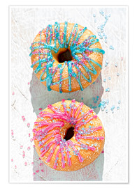 Poster  Zuckerguss Donuts - K&L Food Style