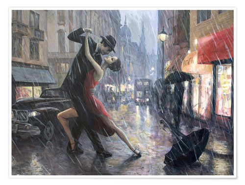 Premium-Poster Life is a Dance in The Rain II