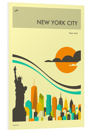 Hartschaumbild  NEW YORK CITY - Jazzberry Blue