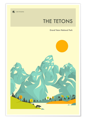 Premium-Poster GRAND TETON NATIONAL PARK