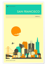 Poster  SAN FRANCISCO - Jazzberry Blue