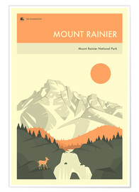Premium-Poster MOUNT RAINIER NATIONAL PARK