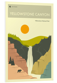 Hartschaumbild  Yellowstone Canyon - Jazzberry Blue