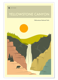 Poster  YELLOWSTONE NATIONAL PARK - Jazzberry Blue