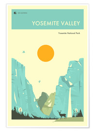 Poster  YOSEMITE NATIONAL PARK - Jazzberry Blue
