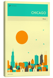 Leinwandbild  Chicago - Jazzberry Blue