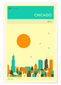 Premium-Poster  Chicago - Jazzberry Blue