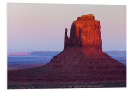 Hartschaumbild  Monument Valley im Abendrot - Rainer Mirau
