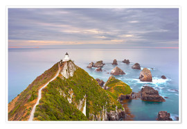 Premium-Poster Nugget Point Leuchtturm in Neuseeland
