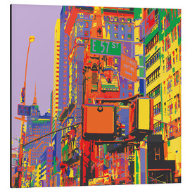 Alu-Dibond  Pop-Art New York City - Jaysanstudio