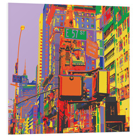Hartschaumbild  Pop-Art New York City - Jaysanstudio