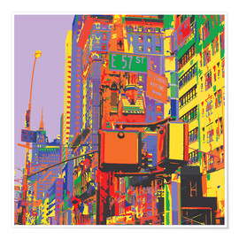 Premium-Poster Pop-Art New York City