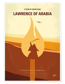 Premium-Poster No772 My Lawrence of Arabia minimal movie poster