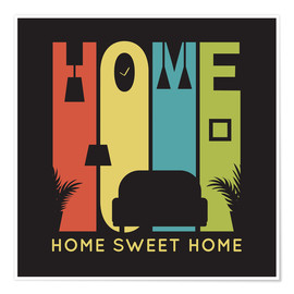 Poster  Sweet Retro Home Typo - Typobox