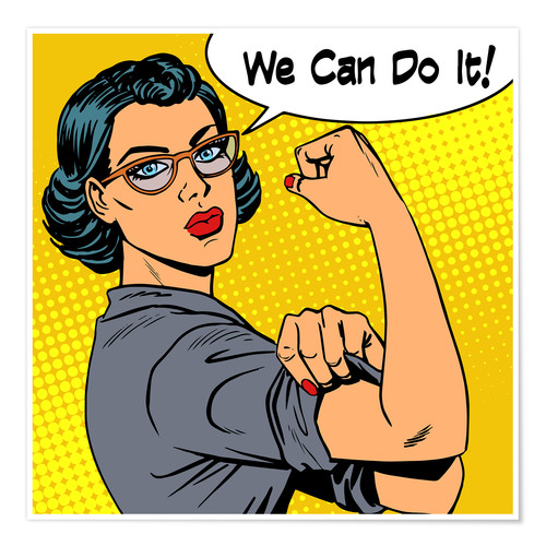Premium-Poster We can do it! Popart