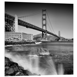 Forex  Golden Gate Bridge mit Brandung - Melanie Viola