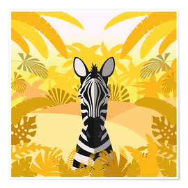 Premium-Poster  Lebensraum des Zebras - Kidz Collection