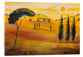 Acrylglas  Sonnenschein am Morgen in der Toskana / Sunshine  in Tuscany in the Morning - Christine Huwer