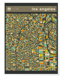 Premium-Poster  LOS ANGELES - Jazzberry Blue