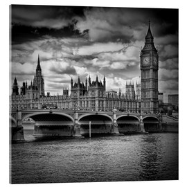 Acrylglasbild  LONDON Houses of Parliament & Westminster Bridge - Melanie Viola