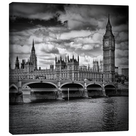 Leinwandbild  LONDON Houses of Parliament & Westminster Bridge - Melanie Viola