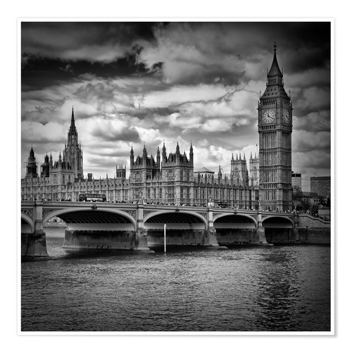 Premium-Poster LONDON Houses of Parliament & Westminster Bridge
