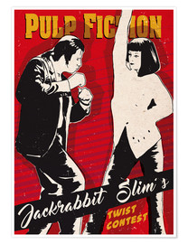 Premium-Poster  Twist-Contest, Pulp Fiction - 2ToastDesign