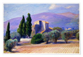Premium-Poster  Bauernhaus in der Provence - William James Glackens