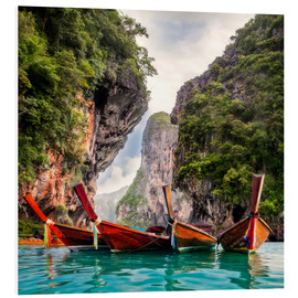 Hartschaumbild  Railay Strand in Krabi Thailand
