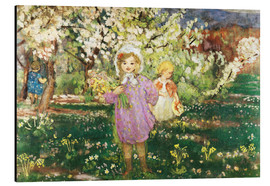 Alubild  Kinder in einem Obstgarten - Henri Lebasque