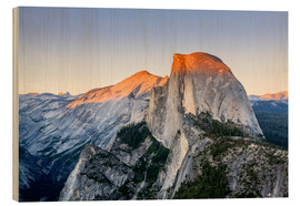 Holzbild  Half Dome bei Sonnenuntergang - Yves Marcoux