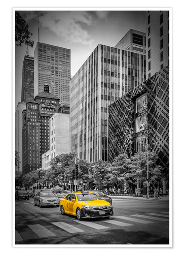 Premium-Poster CHICAGO North Michigan Avenue