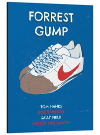 Alubild  alternative forrest gump sneakers art - 2ToastDesign