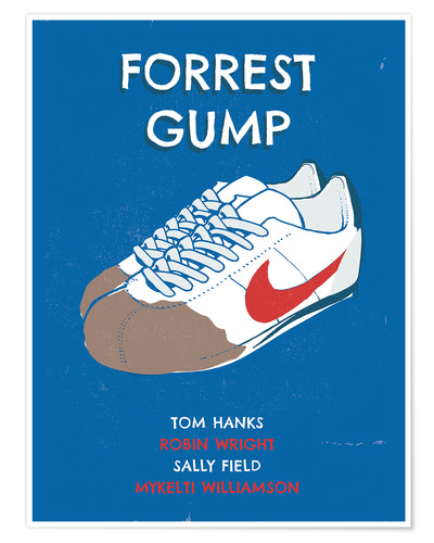 Poster alternative forrest gump sneakers art