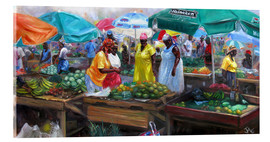 Acrylglasbild  Markt in Castries, St. Lucia - Jonathan Guy-Gladding