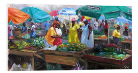 Hartschaumbild  Markt in Castries, St. Lucia - Jonathan Guy-Gladding