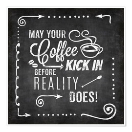 Premium-Poster Coffee Kick