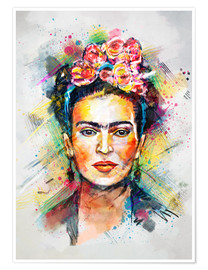 Premium-Poster Frida Flower Pop