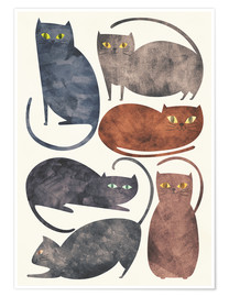 Premium-Poster  Cats - Tracie Andrews