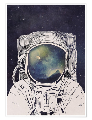 Premium-Poster Dreaming of Space