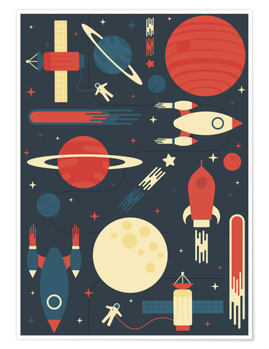 Premium-Poster Space Odyssey