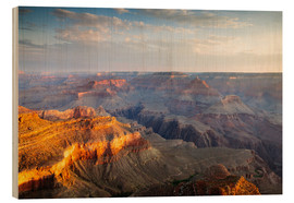 Holzbild  Sonnenaufgang von Grand Canyon South Rim, USA - Matteo Colombo