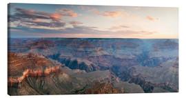 Leinwandbild  Panorama-Sonnenaufgang von Grand Canyon, Arizona, USA - Matteo Colombo