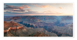 Premium-Poster Panorama-Sonnenaufgang von Grand Canyon, Arizona, USA