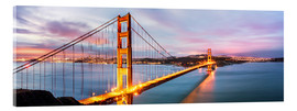 Acrylglasbild  Panoramic von Golden Gate Bridge, San Francisco, USA - Matteo Colombo