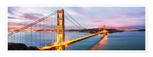 Premium-Poster Panoramic von Golden Gate Bridge, San Francisco, USA