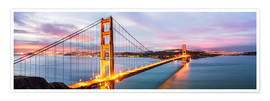 Premium-Poster  Panoramic von Golden Gate Bridge, San Francisco, USA - Matteo Colombo
