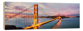 Holzbild  Panoramic von Golden Gate Bridge, San Francisco, USA - Matteo Colombo